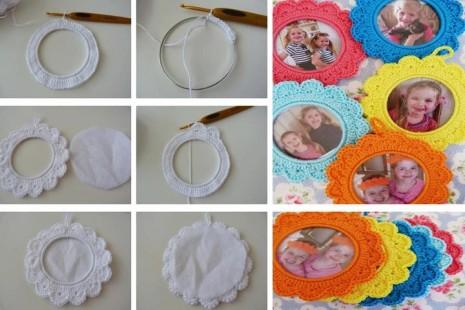 portafotos redondo de crochet2 tutorial