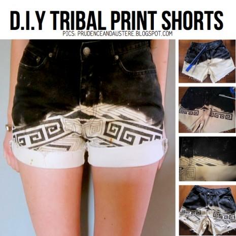 tribal-print-shorts