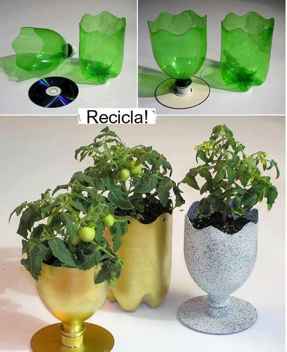 cómo reciclar macetas: muchas ideas originales de macetas