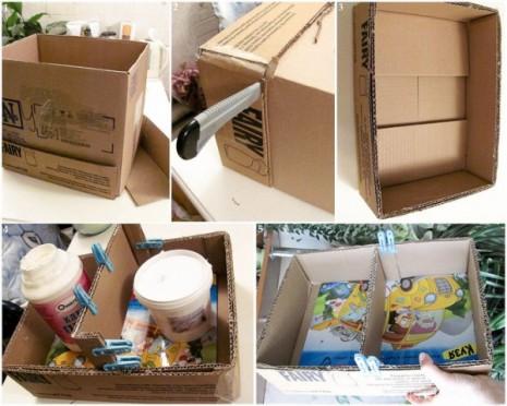DIY-home-decor-idea-shelf-cardboard-double-glue
