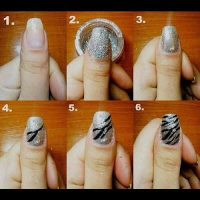 Diseño de uñas animal print brillante