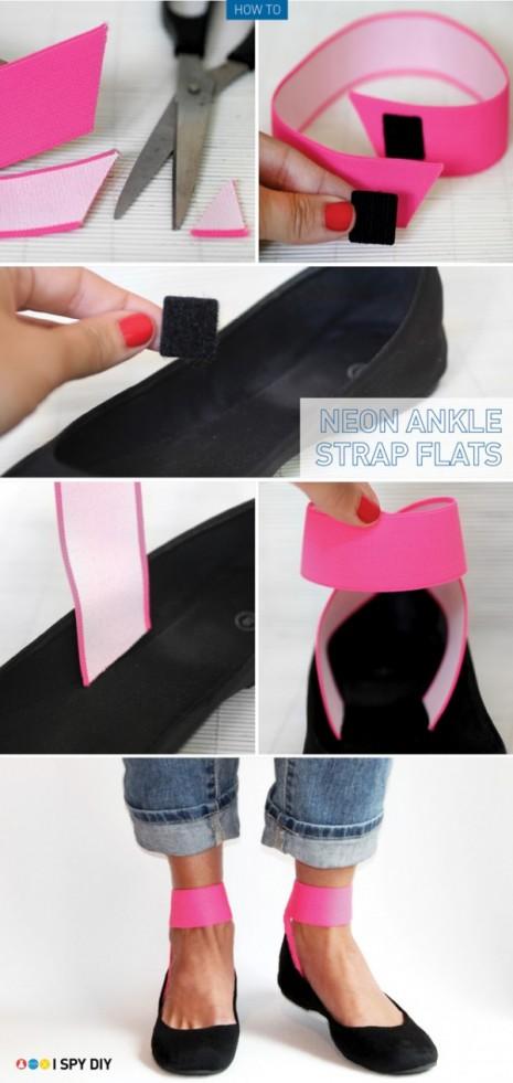 como hacer correas elasticas o pulseras de cintas para los tobillos