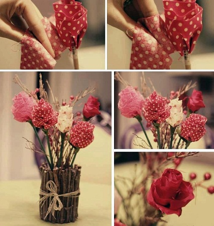 Como Hacer Rosas para el Día de la Madre, Manualidades Paso a Paso