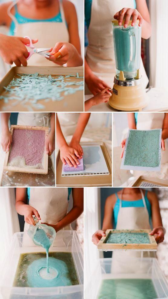 Manualidades con papeles reciclados originales y creativas - Ideas para organizar papeles en casa ...