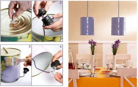 Manualidades y reciclados de latas manualidades y reciclados - Como hacer una lampara de mesa ...
