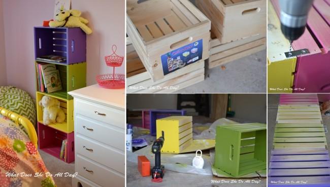 si estas necesitando espacios para decorar el cuarto de tus nenes y poder acomodar los juguetes dndole color al ambiente est es una excelente idea ya que