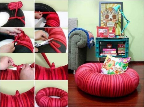 How-to-Make-Pouf-Chair-from-Old-Tire-DIY-Tutorial