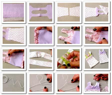 como hacer vestiditos souvenirs