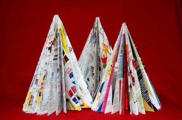 arboles-de-navidad-hechos-con-papel