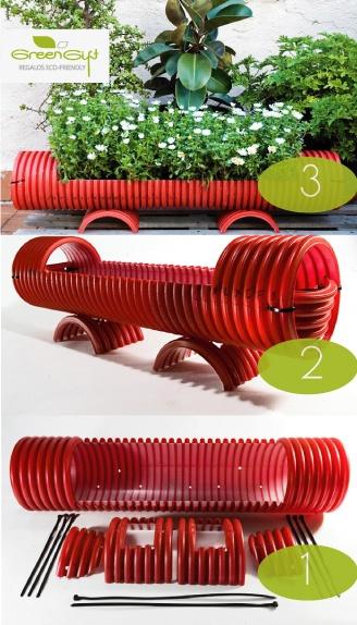 Ideas bonitas recicladas para decorar todo tipo de for Decoracion de casas con material reciclado