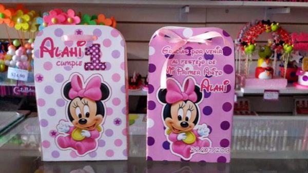 cajitas personalizadas cumpleaños 1er año Minnie