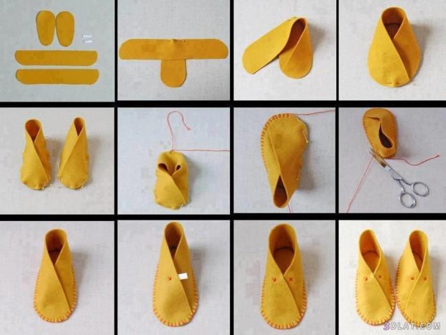 como hacer un par de zapatitos de tela paso a paso para niños niñas bebes pantufla de fieltro como hacer unas babuchas de fieltro