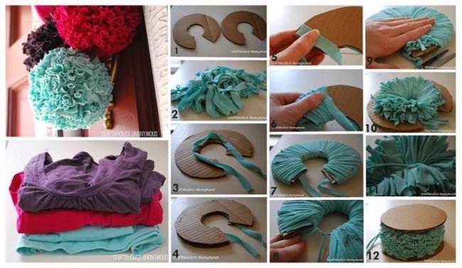 como hacer un pompon paso a paso materiales como playeras o camisolas tutorial grafico para