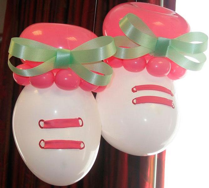 ideas-para-baby-shower-con-globos-zapatitos-niña