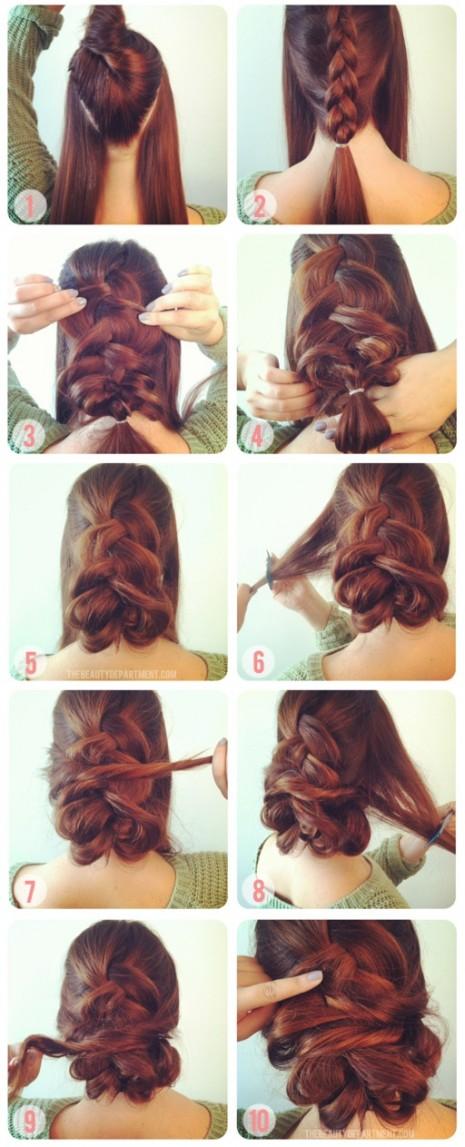 peinado para fiestas