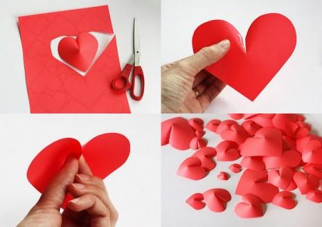 Ideas para hacer corazones de papel 2