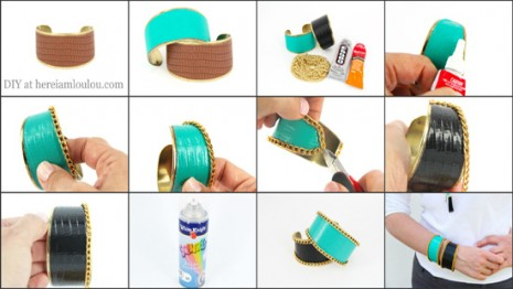 cuff-bracelet-DIY-How-to-tutorial-fashion-jewellery-multi-colour-hereiamloulou-here-i-am-loulou-my-loulou-myloulou-blog-top-10-bloggers-the-best-diy-blog-jewelry-Ribbet-collage3