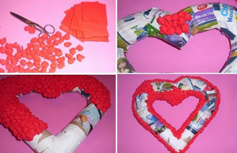 Corona-piñata-en-forma-de-corazon-San-Valentin-Dia-de-los-enamorados-manualidades-reciclado-reciclar-reciclaje-tubos-carton-barato-ahorro-caramelos-dulces-paso-a-paso3