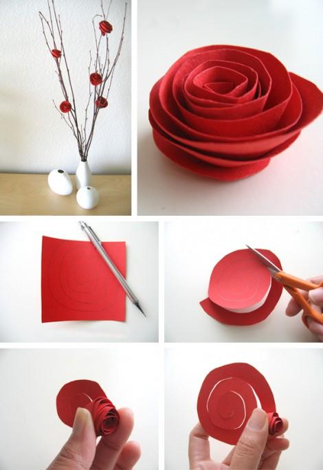 34 Ideas con bonitas flores originales : 34 manualidades para hacer ...
