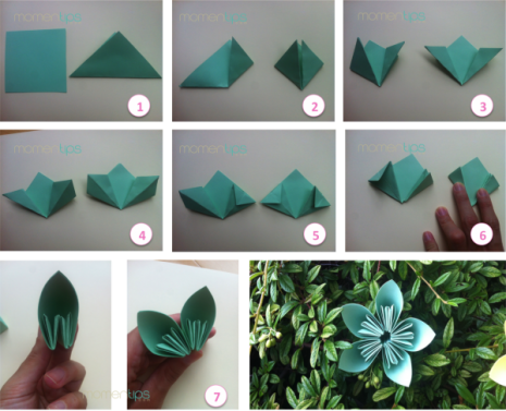 DIY flores de papel.