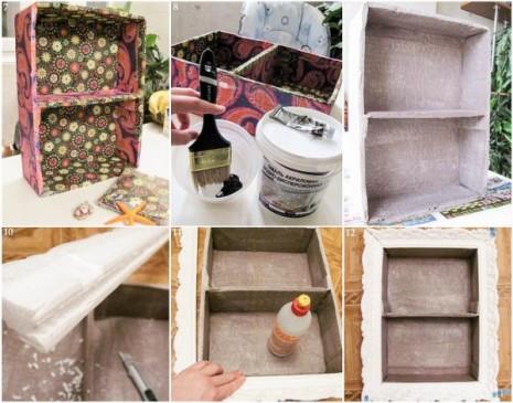 DIY-home-decor-idea-wall-shelf-cardboard-paint-napkins