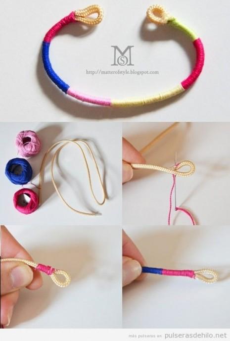e25053fec5f2 50 divertidas y coloridas pulseras recicladas para lucir con ...