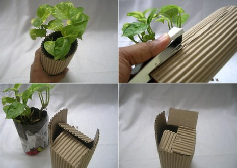 2_step-by-step-instructions-on-making-the-green-gift-with-plants-with-corrugated-paper-DIY-ideas