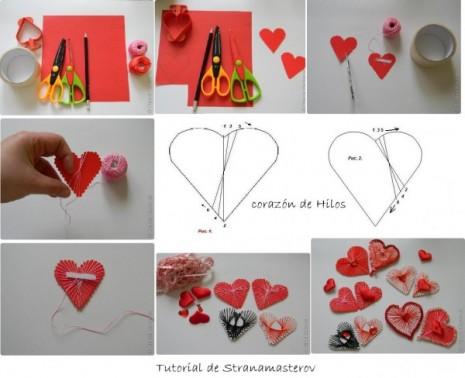 tutorial corazones de hilos