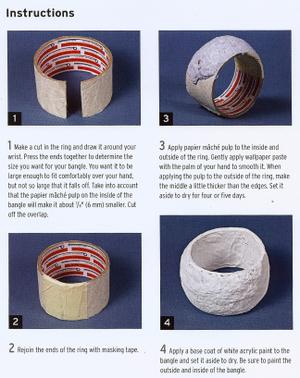 02 Pulseras anchas con papel de regalo