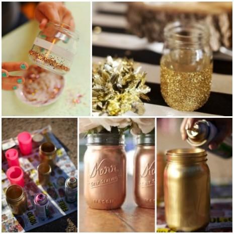 DIY-gold-mason-jars-_-glitterweddings.com_