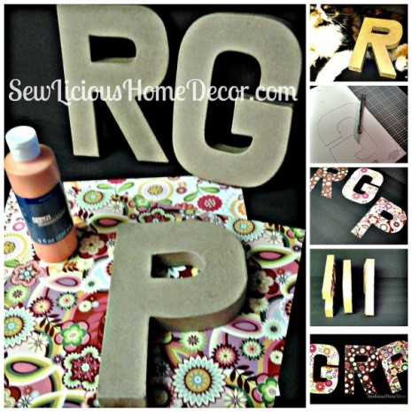 Scrapbook Paper Covered Letters Tutorial