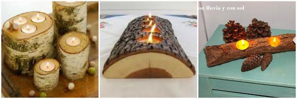 Centros de mesa artesanales con frascos botellas troncos for Decoracion del hogar facil y economico