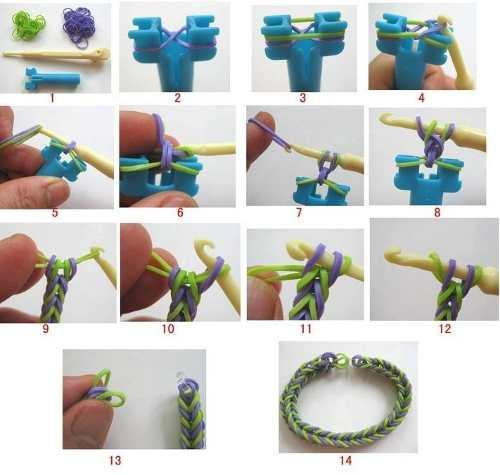 Pulseras con gomitas Tcnicas diferentes Manualidades y Reciclados