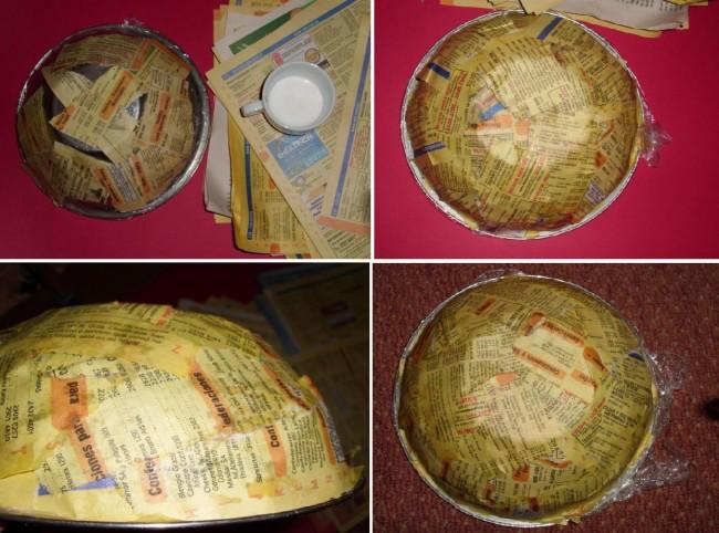 bowl cesta panera de papel reciclado reciclaje reciclar guias telefonicas periodicos diarios decoracion decorar barato ahorro facil