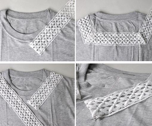 customizar-camiseta-con-encaje-en-el-cuello-pasos