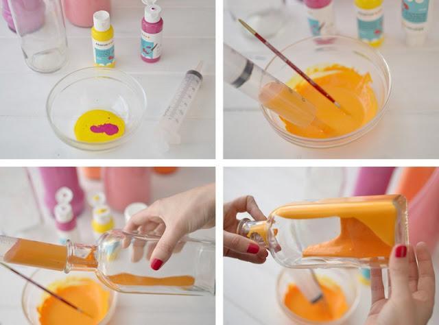 Ideas bonitas hechas con botellas de vidrio y frascos for Decoracion del hogar paso a paso