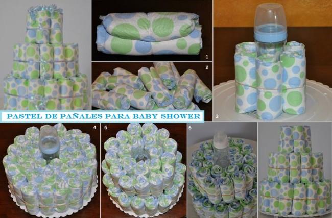 Otra Idea De Cómo Hacer Una Torta De Pañales Para El Baby Shower