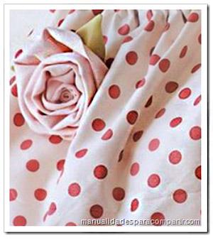 rosa de tela bolsa de tela manualidades