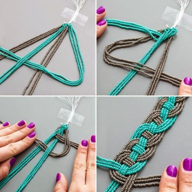 Collares Artesanales Con Cadenas Y Trenzados Ideas Novedosas Y Originales Manualidades Y Reciclados