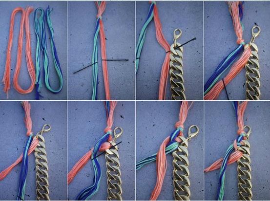 021f39e992a6 Collares artesanales con cadenas y trenzados  Ideas novedosas y ...