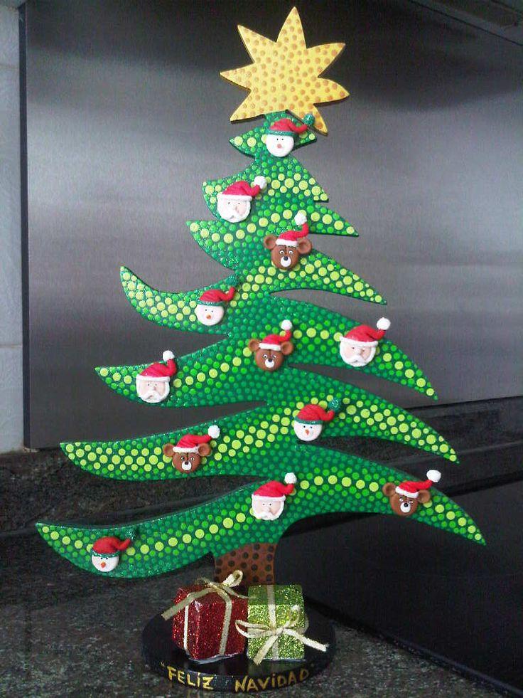 Manualidades para navidad bonitas y originales manualidades y reciclados - Arbol de navidad abeto ...
