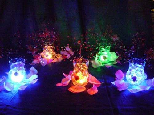 Ideas de centros de mesa para 15 a os con flores y velas - C0m0 hacer manualidades ...