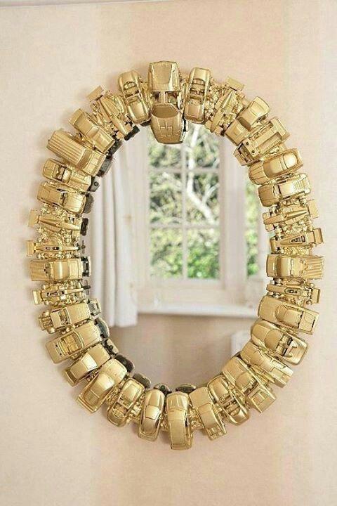 Manualidades para reciclar el marco de un espejo: Renovar espejos ...