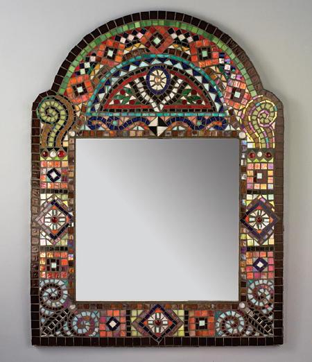 Manualidades para reciclar el marco de un espejo renovar for Espejos decorativos para pasillos