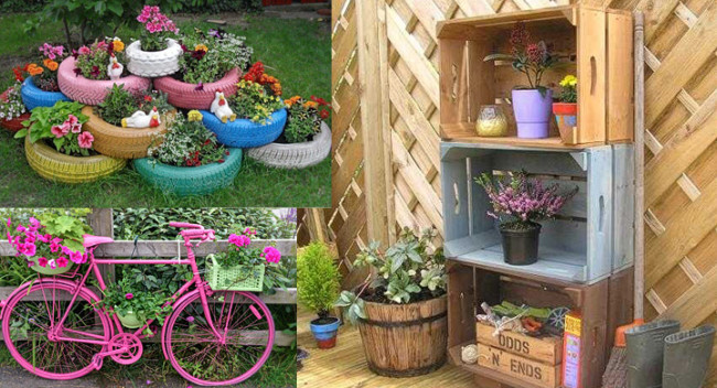 Reciclar-objetos-para-decoarar-el-jardin