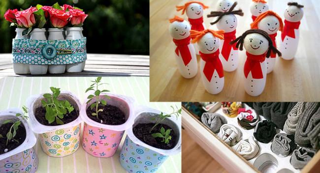 Manualidades divertidas para reciclar vasitos de yogur manualidades y reciclados - Decoracion con reciclaje para el hogar ...