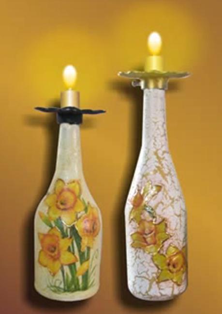 Ideas bonitas hechas con botellas de vidrio y frascos reciclados