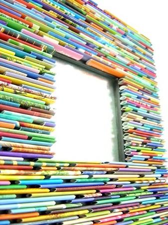 Manualidades para reciclar el marco de un espejo renovar for Como colgar un espejo sin marco