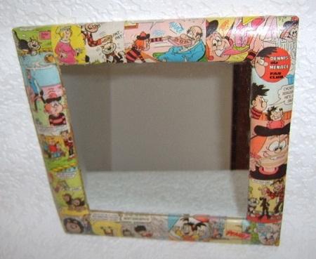 Manualidades para reciclar el marco de un espejo renovar for Marcos de espejos originales