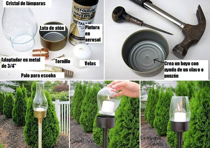 Ideas bonitas recicladas para decorar todo tipo de for Adornos jardin reciclados
